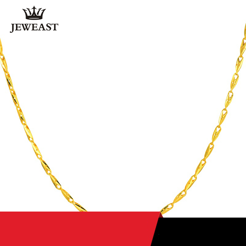 24K Pure Gold Necklace Real AU 999 Solid Gold Chain Beautiful Fish Upscale Trendy Classic Party Fine Jewelry Hot Sell New 2018 2018 new hot middle east fine jewelry colorful crystal sweater chain bracelet candy color gold rose necklace cute party necklace