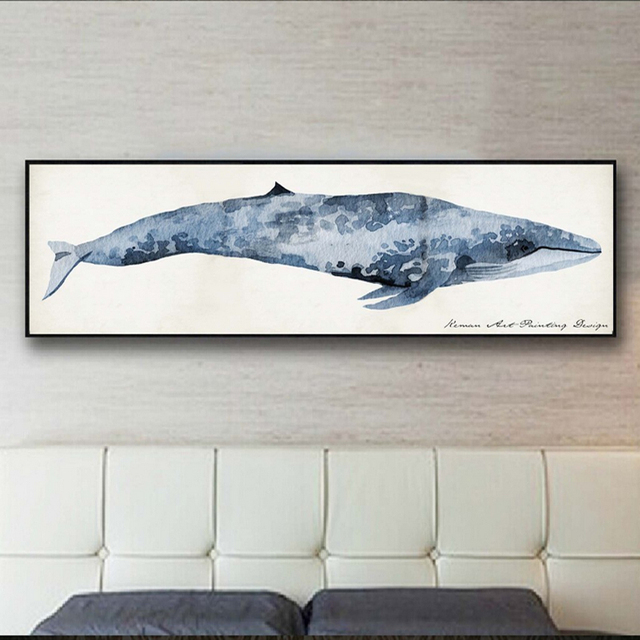 Shark Canvas Canvas Animal Posters Art Minimalist Printings Nordic Wall  Pictures For Living Room Bedroom Home