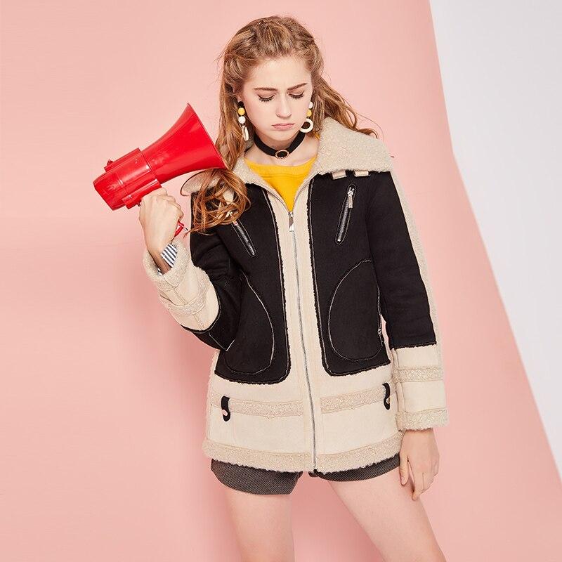 Le nouveau manteau d'hiver épaissi en laine d'agneau d'hiver dans la longue Section de 2017 nouvelle veste matelassée mince femme-in Laine et mélanges from Mode Femme et Accessoires    1