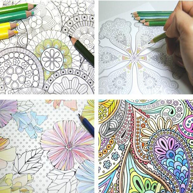 4 Different Models / Batch Page 24 Flower Mandala Coloring