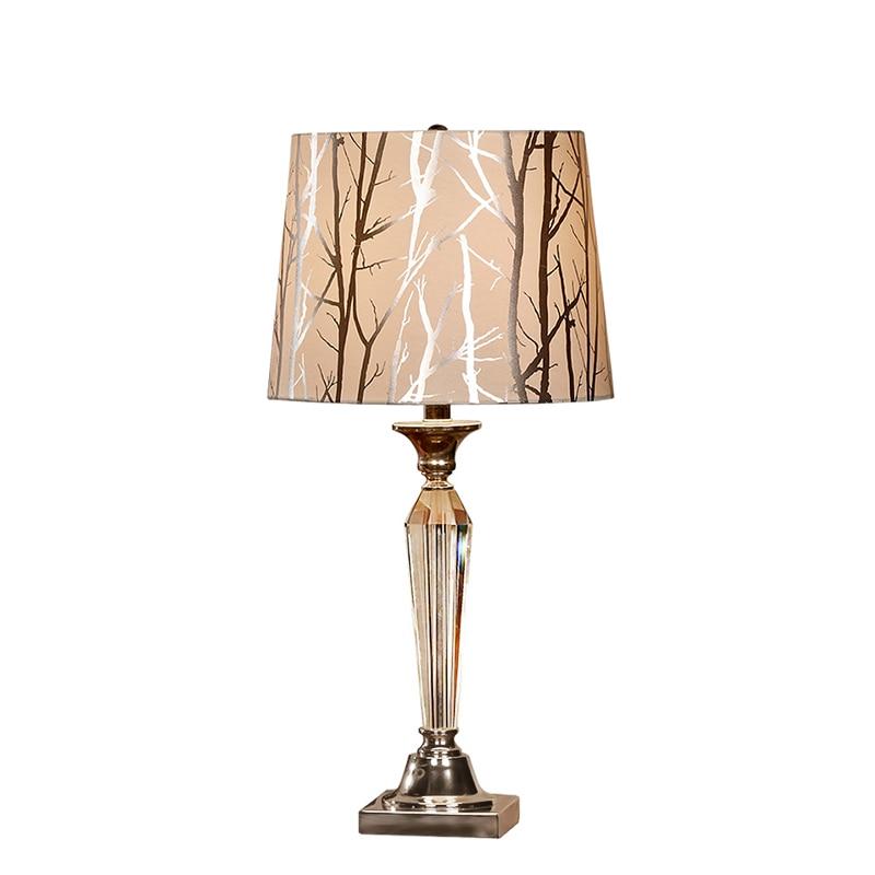 Křišťálové stolní lampa ložnice noční lampičky moderní jednoduchý evropský styl luxusní dekorativní stolní lampa kreativní teplý obývací pokoj