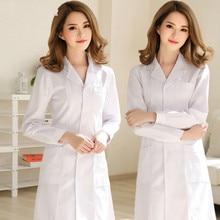 Новые модели стильная и элегантная Больничная униформа медсестры летняя медицинская одежда с коротким рукавом косметолога аптека белое пальто