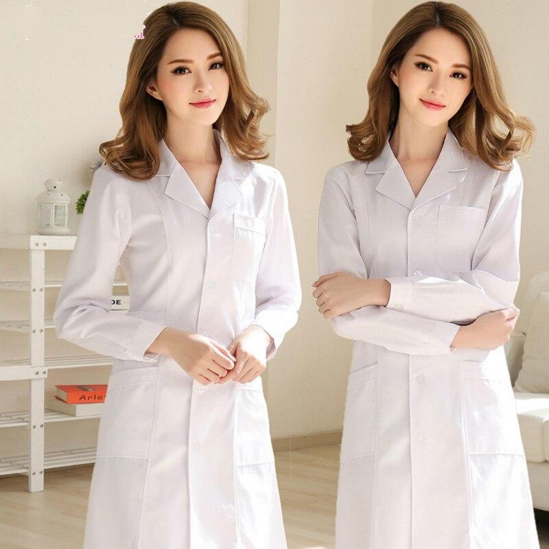 New Models Stylish And Elegant Hospital Nurse Uniform Summer Short-sleeve Medical Clothing Beautician Pharmacy White Coat