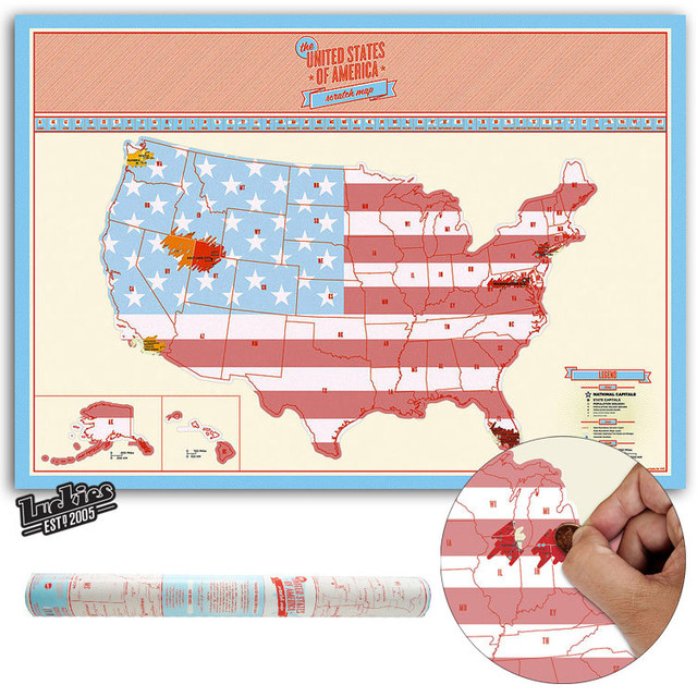 American Scratch OFF MAP USA Travel Scratch Map United States ...