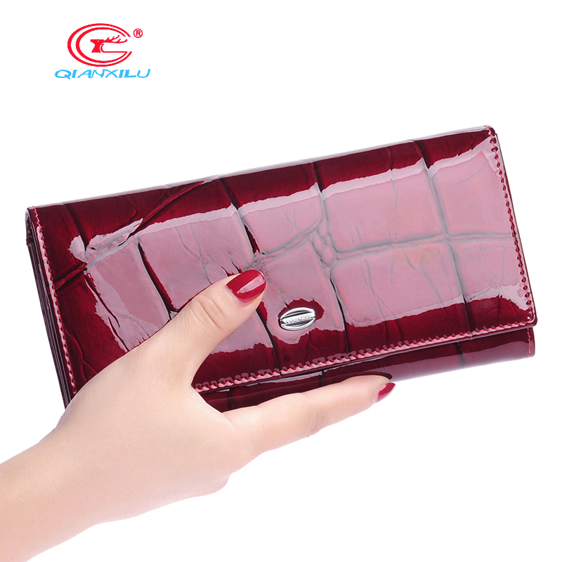 Fashion High Quality Women Wallet Genuine Leather Candy Purse Female Long Design 2017