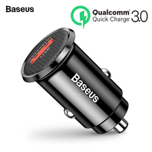 Baseus Mini USB Car Charger Quick Charge 3.0 Phone for Xiaomi mi Samsung iPhone QC3.0 QC Fast Mobile Charging