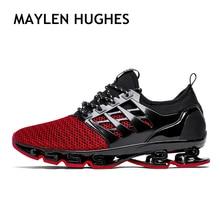 Весна Лето мужские кроссовки 2018 мужские кроссовки трендовые стильные спортивные туфли дышащие кроссовки прогулочная обувь для мужчин 001