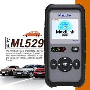 Image 4 - Autel Maxilink ML529 Teşhis Tarayıcı Aracı OBDII EOBD OBD2 Oto Motor Işık DIY Arıza Kod Okuyucu ile Gelişmiş Mod 6
