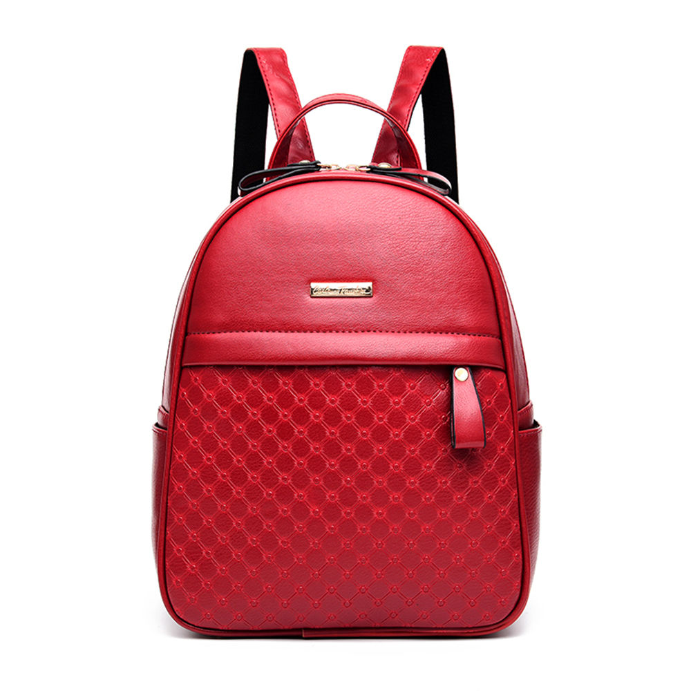 ФОТО Small Grid Stylish Girl PU Leather Backpack Multifunction Shopping Travel Tablet Bag Exquisite Women School Daypack