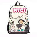 Nici Cartoon School Bag for School Kids Pink Book Bags for Children Backpack Teenager Girls and Boys Polyester Printing Mochila
