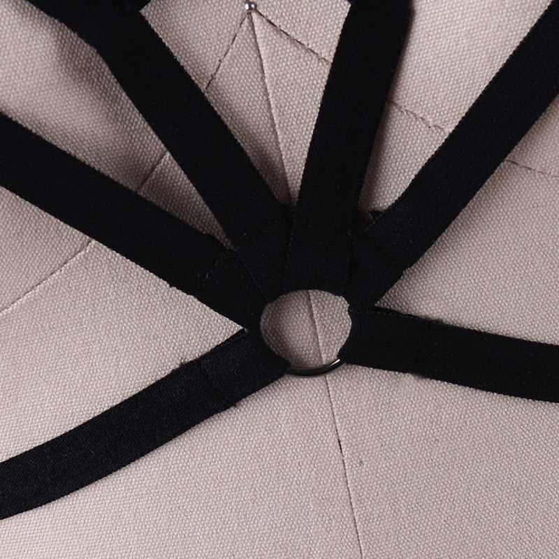 Fascia Toracica Strappy Gabbia Reggiseno Imbracatura Pentagram Telaio Della Biancheria Delle Donne Sexy Punk Gotico Crop Top Bretella Regolabile Abbigliamento
