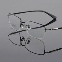 width 153 new retro fashion optical pure titanium eyeglasses frames men goggles prescription reading glass frame male eyewear