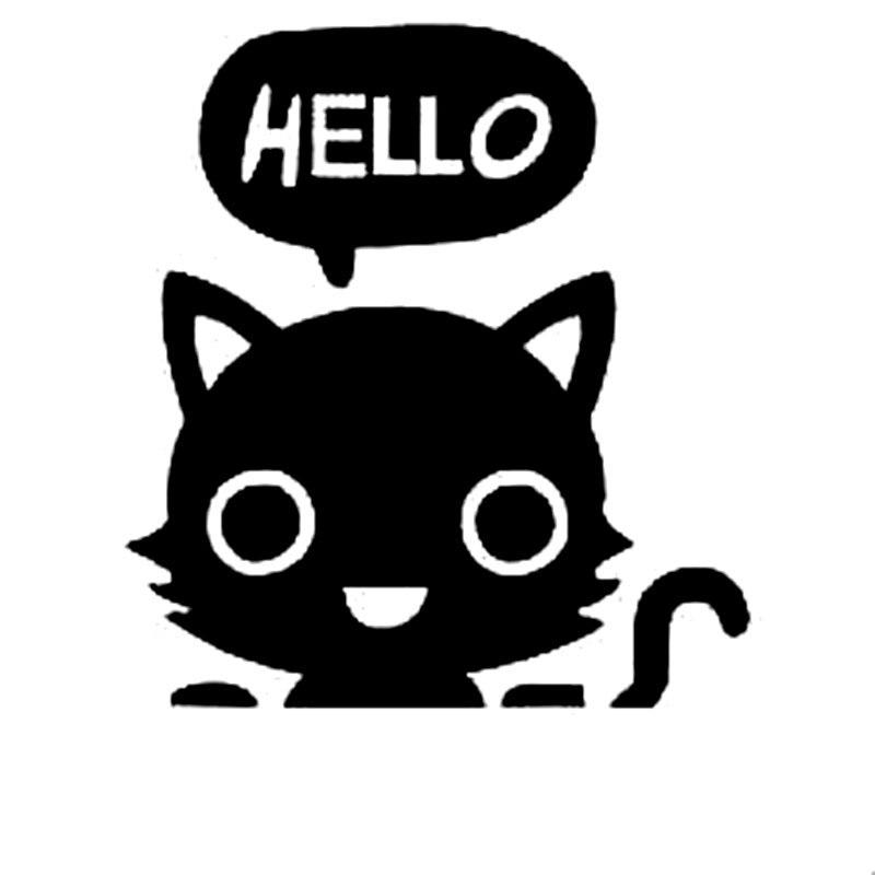 "6/"" I LOVE MY EVIL CAT vinyl decal car truck window laptop sticker kitty"