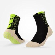 1 пара Противоскользящих футбольных носков, Дышащие футбольные впитывающие пот носки для мужчин и женщин, резиновые походные велосипедные носки