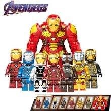 8Pcs/Set Legoed Avengers 4 Endgame Iron Man Minifigured Playmobil Marvel Building Blocks Action Figures Model Children Gift Toys