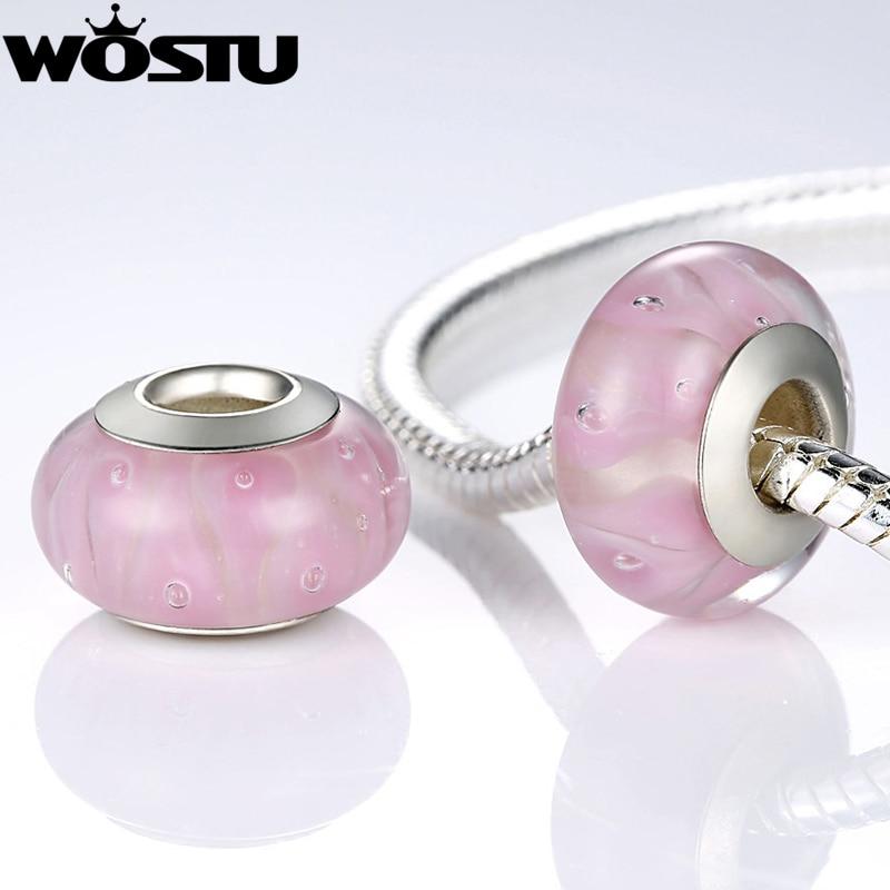 Varmt sølvbelagt blomst Murano glasperler passer armbånd armbånd - Mode smykker - Foto 6