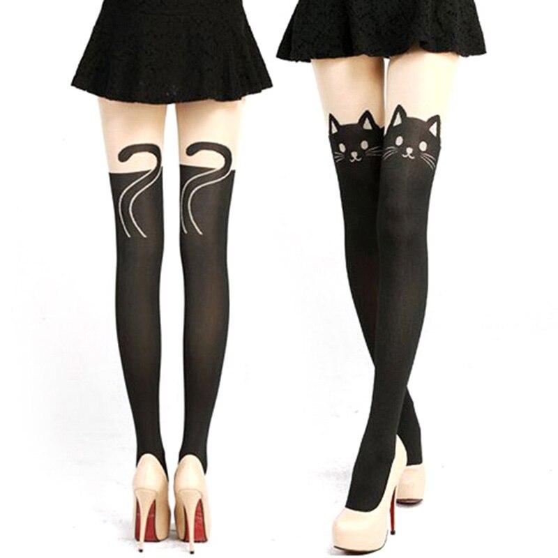 1d420d296c8 Newest Stockings Women Sexy Cat Tail Velvet Knee High Socks Hosiery Tattoo  Stockings-in Stockings from Underwear   Sleepwears on Aliexpress.com