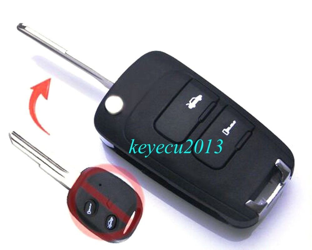 Keyecu Flip Remote Key Fob 2 Button 433MHz 70 Chip Keyless Entry for Old Chevrolet Epica fuzik keyless go smart key keyless entry push remote button start car alarm for honda accord odyssey crv civic jazz vezel xrv