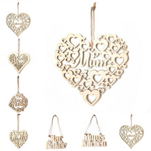 1pcs Kinds of Wooden Mum Letters Laser Cut Wood Sign Mothers Day Gifts Hanging Ornaments DIY Home Wall Decorative Accessories