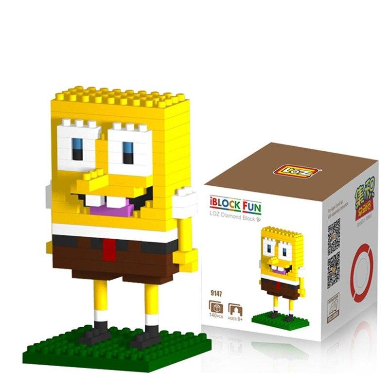 LOZ SpongeBob Diamond Building Blocks Present Gift Patrick Star Squidward Tentacles Eugene H. Krabs Bricks Action Figures Toy цена и фото