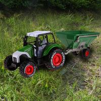 1 32 Engineering Alloy Farmer Model Car Truck With Pull Back Music Function Excavator Farm Model