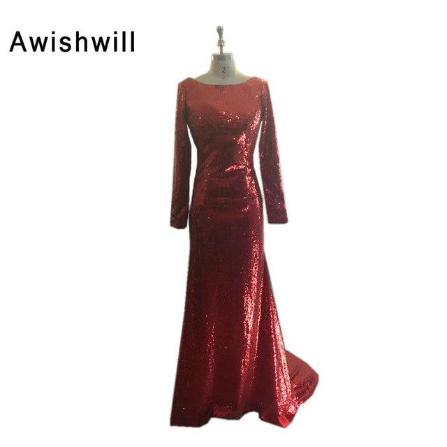 Cheap On Sale Vestido de Festa Full Sleeve Open Back Evening Gowns Dress  for Graduation 2018 89fd383918ef