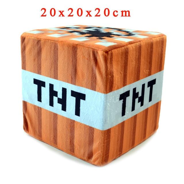 minecraft plush toys 20 20 20cm minecraft tnt stuffed plush pillow