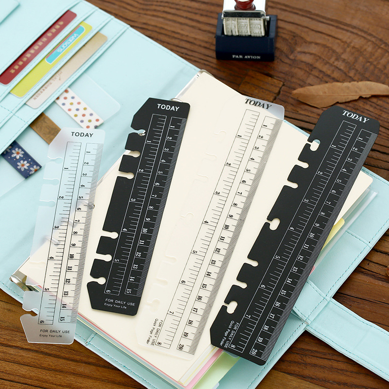 2PCS/LOT Blank And White Color Ruler For Notebook A5 A6 TODAY PVC Bookmark Ruler Cute Korean Stationery Wholesale