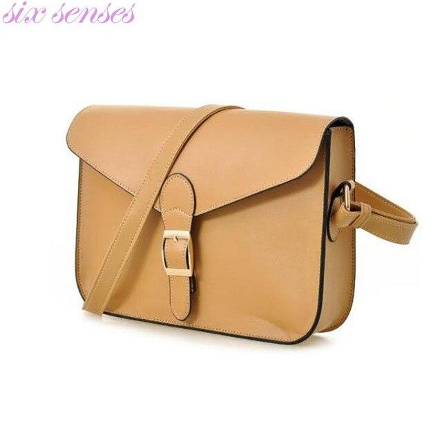 Seis sentidos bolsa saco do mensageiro das Mulheres Bolsa feminina estilo preppy saco envelope do vintage bolsa de ombro de alta qualidade maleta DL1707