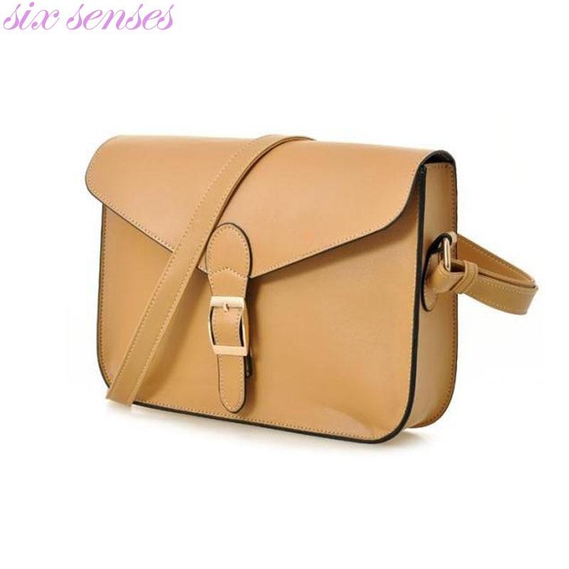 Six senses Women's handbag messenger bag preppy style female Bag vintage envelope bag shoulder bag high quality briefcase DL1707