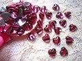 Shipping-10mm diamante coração de acrílico rosa para nail art