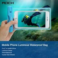 Рок Универсальный Водонепроницаемый Fundas Para Móviles световой телефон сумка смартфон спасательный жилет для iPhone/Samsung/Xiaomi/Huawei
