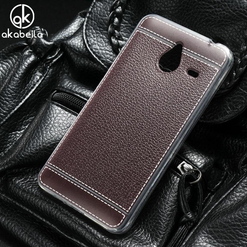 Galleria fotografica AKABEILA Phone Cases For Microsoft <font><b>Nokia</b></font> Lumia 640XL 640 XL N640XL 5.7 inch Litchi Silicone Soft TPU Phone <font><b>Cover</b></font> Case Housing