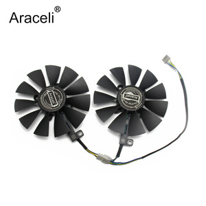 88 мм FDC10U12S9-C 0.45A вентилятор охлаждения для ASUS GTX1060 1070 Ti RX 470 570 580 Dual OC видеокарта Everflow Охлаждающие вентиляторы