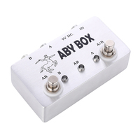 100% Hand Made Footswich AB Box Pedal Guitar True Bypass Effect Pedal Accesorios Guitarra