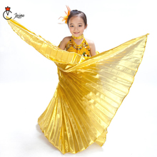 Children Dance Performance Props Belly Accessories Egyptian Gold Wings Gold/Silver Isis with Sticks and bag