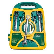 7 Stuks/set Ratelsleutel Set Hand Moersleutel Handgereedschap Metrische Ratelsleutel Set 8 19 Mm Een Set Van sleutel