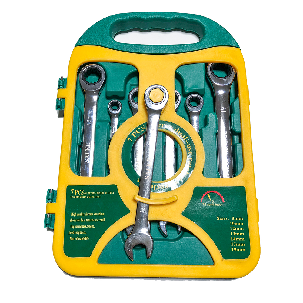 7PieceS/set  Ratchet Wrench Set hand wrench Hand Tools Metric Ratchet Wrench Set 8-19mm A Set of Key7PieceS/set  Ratchet Wrench Set hand wrench Hand Tools Metric Ratchet Wrench Set 8-19mm A Set of Key