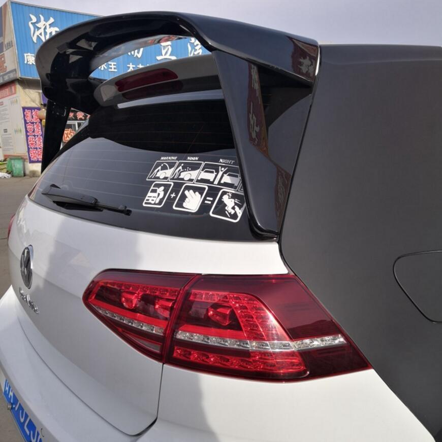 for Volkswagen GOLF 7 MK7 spoiler 2014 2018 mk7.5 high quality ABS material car tail black rear spoiler