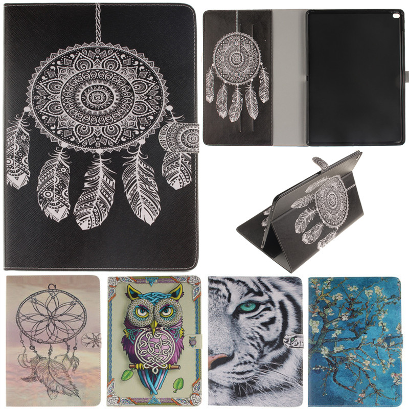 For IPad Pro 12.9 Cute Cartoon Owl Tiger Lion Girl Tree Stand Flip Leather Case sFor Apple IPad Pro 12.9 Inch Tablet Cover Case new animal cartoon tiger owl pu leather stand for apple ipad pro 9 7 case with card slot protector back cover stylus