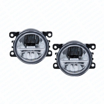 2pcs Car Styling Round Front Bumper LED Fog Lights DRL Daytime Running Driving fog lamps  For CITROEN DISPATCH BOX 2010