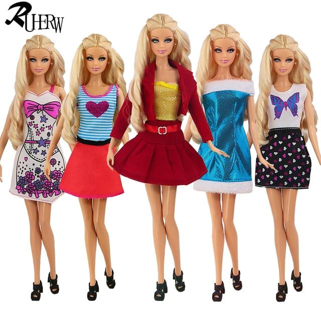 5 Piece lot Fashion Pakaian Yang Indah untuk Boneka Barbie 5 Gaya Kasual  UNTUK ANDA 5676a0cb4f