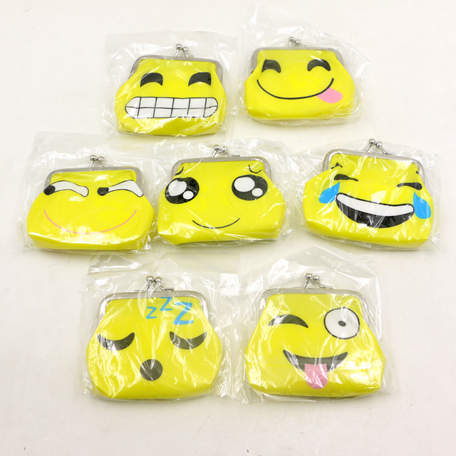 Kids Favors Emoji Birthday Party Gift PVC Money Bags Cartoon Coin Purse Baby Shower Decoration Events Supplies 1pcslot In From Home