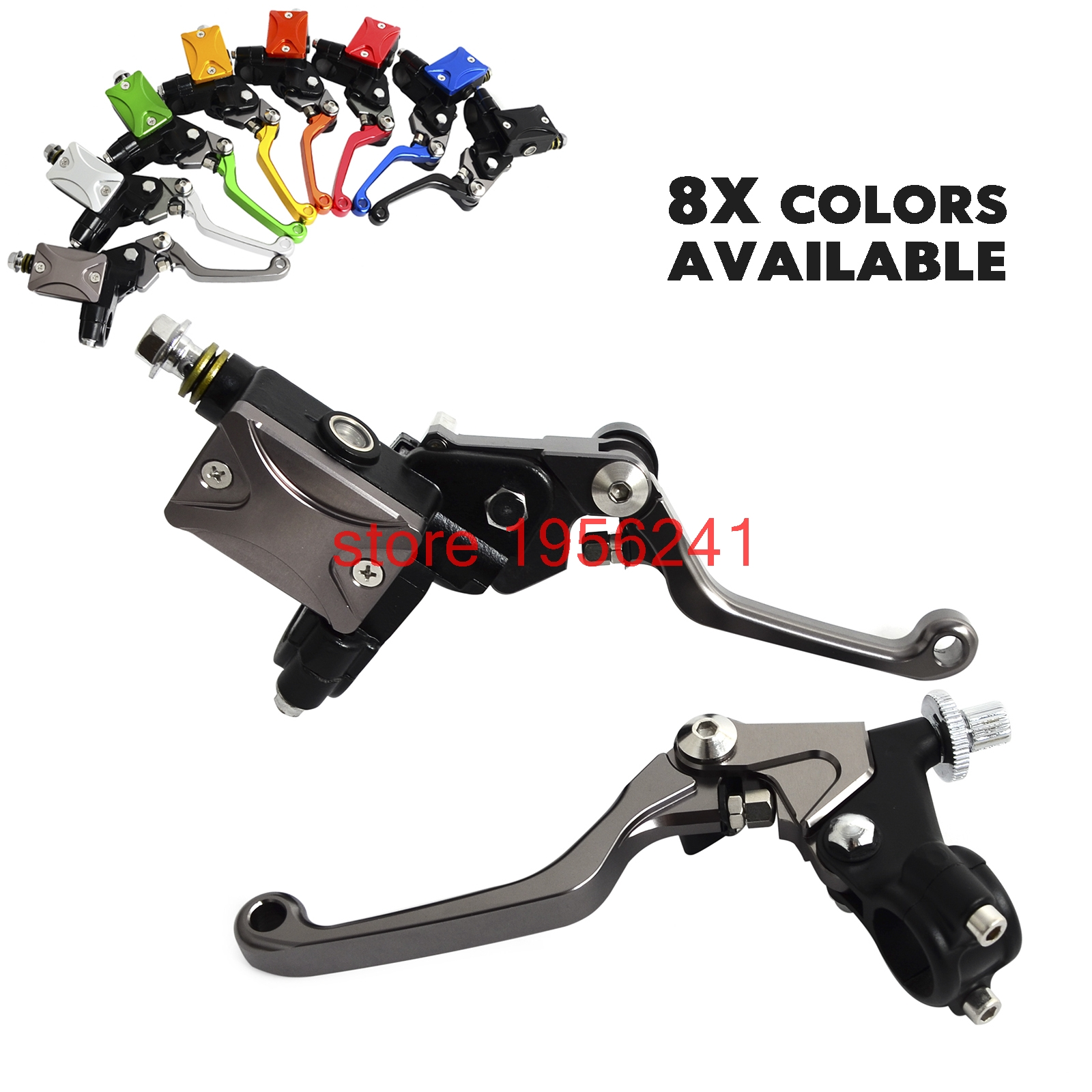 H2CNC Hydraulic Brake & Cable Clutch Lever Set Assembly For Suzuki RM85 RM125 RM250 RMZ250 RMZ450 DRZ450S DRZ450M RMX 250S 450Z cnc front brake line hose clamps holder for suzuki rm85 rm125 rm250 rmz250 rmz450 rmx450z drz400sm motorcycle