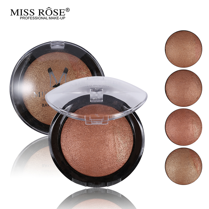 1 StÜck Frauen Heißer Verkauf Bronzer Erröten Palette Gesicht Makeup Baked Puder Rouge Professionelle Paleta De Blush Von Miss Rose Marke üPpiges Design