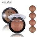 1 UNID Mujeres Venta Caliente Colorete Bronceador Paleta Rostro Maquillaje Baked Colorete En Polvo Profesional paleta de blush de Miss Rose marca