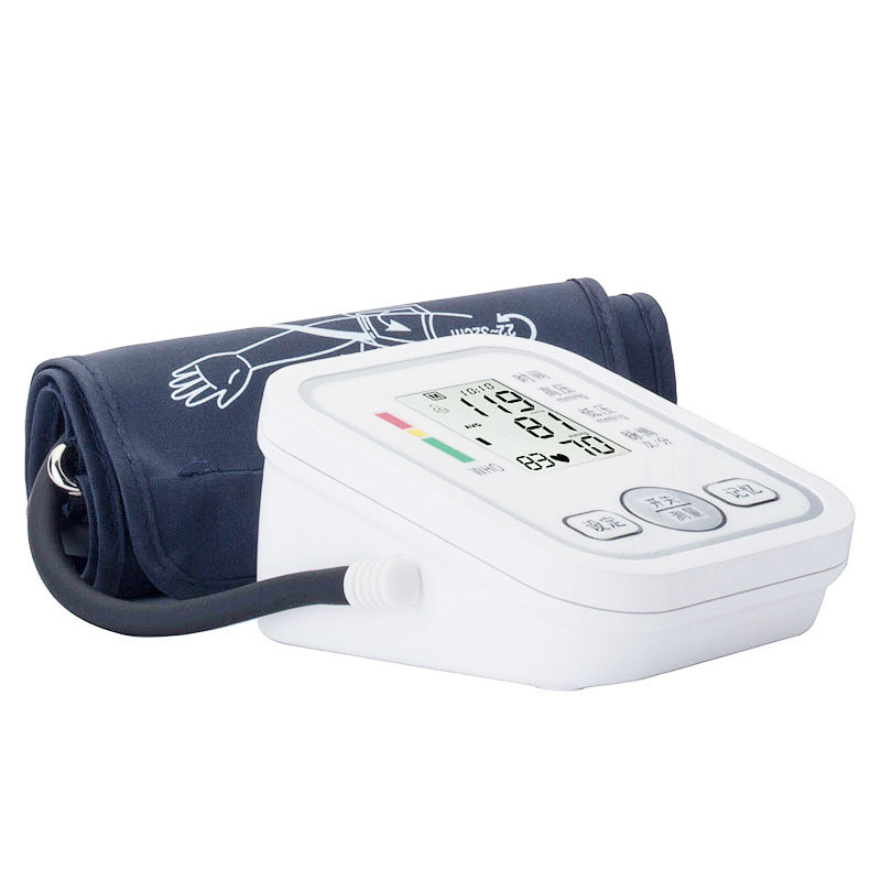 With English Voice Digital Arm Blood Pressure Monitor Pulse Tonometer Pressuring Home Use Sphygmomanometer Apparatus Measuring