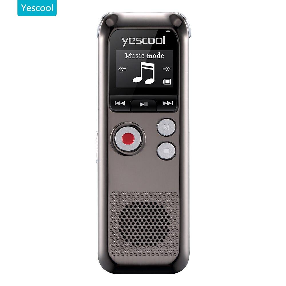 Yescool A60 professional Dictaphone espia mini voice recorder registrador grabadora de voz support MP3 player audio recorder la voz dormida