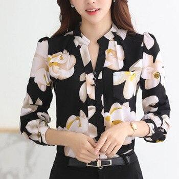 Fashion women tops 2019 ladies tops V-Neck Slim Chiffon blouse shirt Office Work Wear Women shirts Plus Size Blusas 882G 25 3