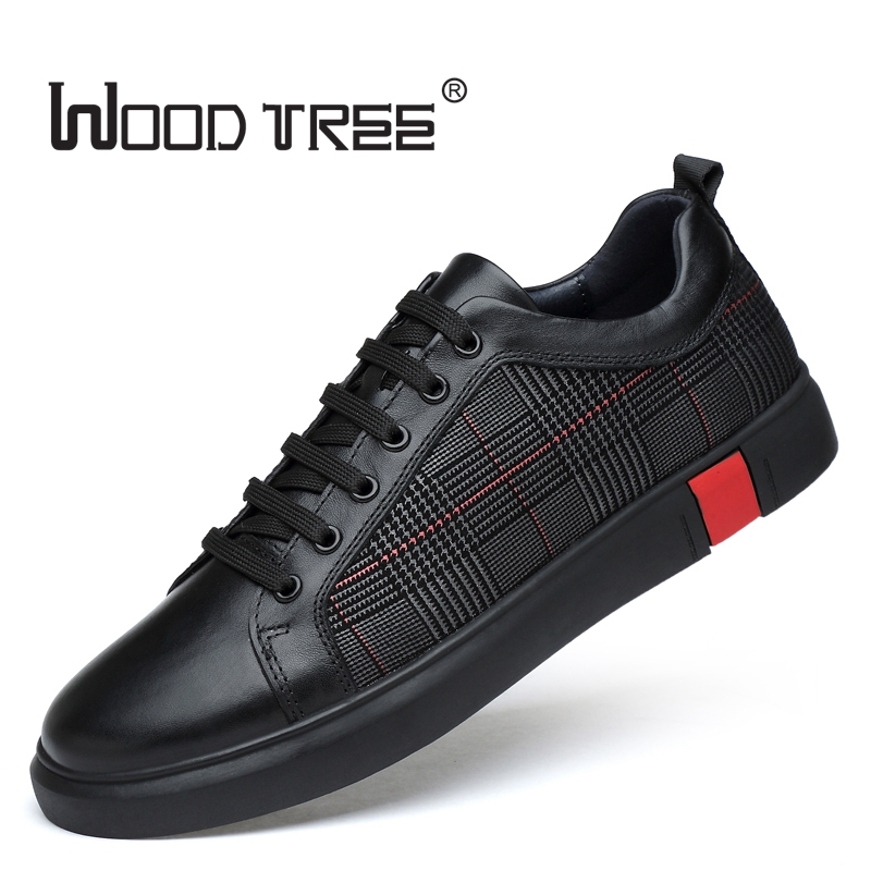 Woodtree 2018 Spring New Men Casual Shoes Breathable Wear Resistant Shoes Comfortable Summer Black Round Toe Lace up Flat Snekae mycolen 2018 new spring autumn classic men casual shoes comfortable flat shoes fashion breathable wear resistant shoes